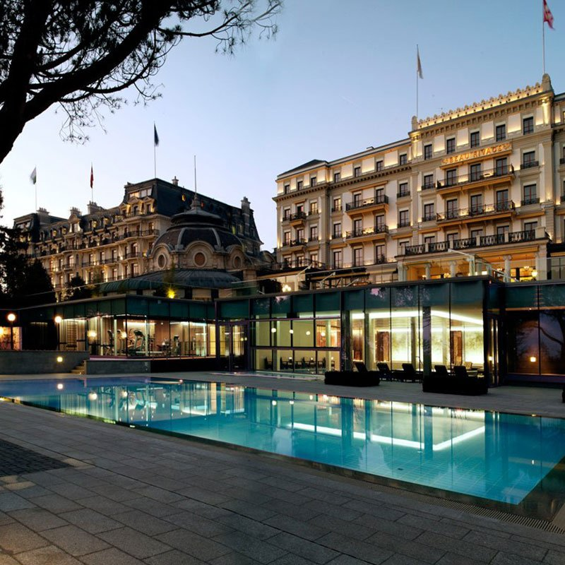 Beau Rivage Palace in Lausanne
